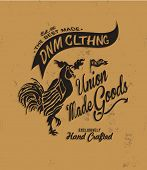 image of apparel  - vintage typography for apparel 7 - JPG