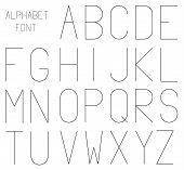 High And Thin Geometrical Font