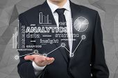 Businessman Holding Analytics