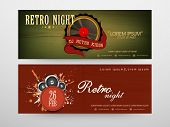 Headers for party nights with its details.