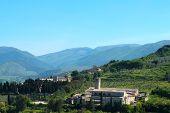 Church In Umbria Landscape