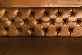 Background With Close-up Of Brown  Leather