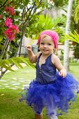 Cute Baby-girl In Tutu Skirt