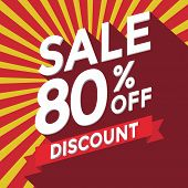 Sale 80% off discount