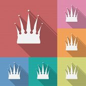 Icon of Crown. Flat style