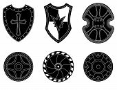 Icon Set Of Ancient, Medieval Shield