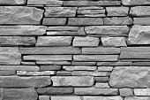 Gray Brick Wall As Background.
