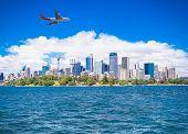 Beautiful landscape of Sydney city in suny day. Australia.