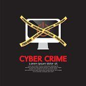 stock photo of spyware  - Cyber Crime Concept Vector Illustration - JPG