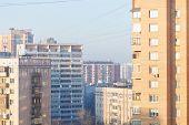 Residential Quarter In Winter Morning