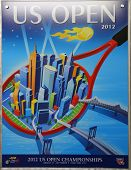 US Open 2012 poster on display at the Billie Jean King National Tennis Center in New York