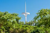 Barcelona, Spain - July 24, 2013: TV tower on Mount Montjuic