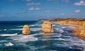 stock photo of 12 apostles  - beautiful twelve apostles close up in Australia - JPG