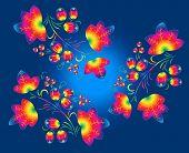 Rainbow  patterns  in the  Khokhloma  style.
