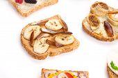 healthy fruit sandwiches