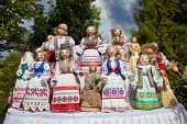 Traditional Belorussian Dolls In National Clothes At Market.