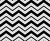 Illustration of seamless black-and-white geometric pattern