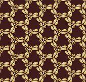 Golden Abstract Seamless Vector Pattern
