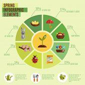 Spring Infographics Set