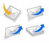 set icon of e-mail correspondence