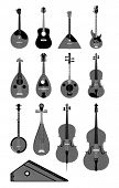 vector set of string instruments