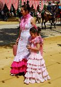 Mother and daughter at the Seville Fair.