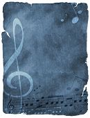 music background on old paper