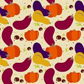 seamless pattern of autumn vegetable. Harvest background and Thanks giving dinner. eps 8
