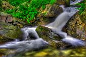 Creamy waterfall in the forest