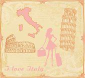 Travel Girl In Italy
