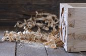 image of workbench  - Drawer wood dovetail on the workbench carpentry - JPG