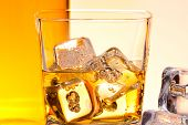 Detail Of A Glass Of Whiskey With Ice