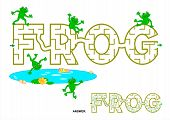 FROG word maze for kids