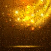Abstract orange glowing background