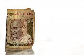 image of gandhi  - The Indian five hundred rupees banknote  - JPG