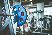 pic of rod  - Rod with weights in the gym - JPG