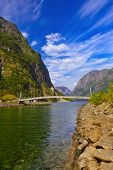 pic of fjord  - Fjord Sognefjord in Norway  - JPG