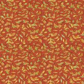 pic of fallen  - colorful fallen leaves and branches seamless pattern - JPG