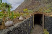 pic of stone house  - Exterior of Abandoned Stone Made Houses In a Medieval Village El Hierro Island Spain - JPG