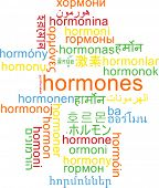 picture of hormones  - Background concept wordcloud multilanguage international many language illustration of hormones - JPG
