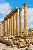 foto of cardo  - The Cardo Maximus street in Jerash ruins Jordan - JPG