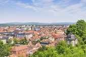 stock photo of bavaria  - Cityscape of Bamberg with blue Himmen in summer Bavaria Germany - JPG