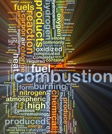 picture of combustion  - Background concept wordcloud illustration of combustion glowing light - JPG