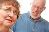 Angry Senior Couple in a Terrible Argument