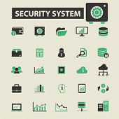 Постер, плакат: security system icons security system logo security system vector security system flat illustrati