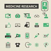Постер, плакат: medicine research icons medicine research logo medicine research vector medicine research flat il