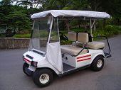 White Golf Buggy