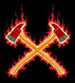 Flaming Firefighter Axe
