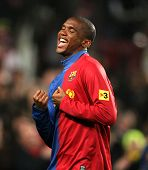 Cameroonian player Samuel Eto'o of Barcelona