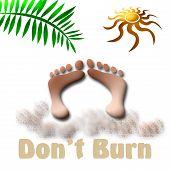Brennen Sie nicht Zeichen